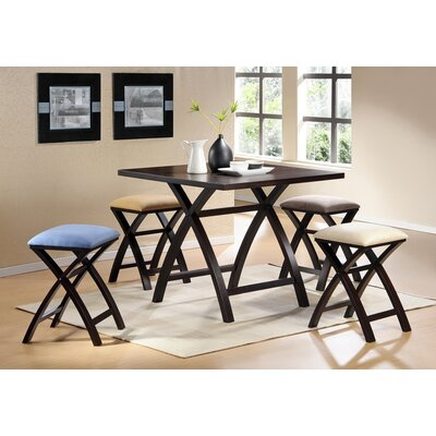 Steve Silver Furniture Cross 5 Piece Counter Height Dining Set