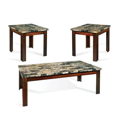 Steve Silver Furniture Montibello 3 Piece Coffee Table Set
