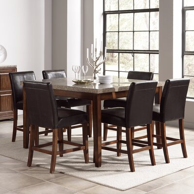 Steve Silver Furniture Clayton 7 Piece Counter  Height Dining Set