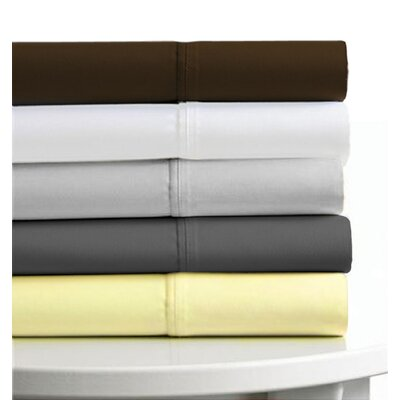 Tribeca Living 6-Piece Egyptian Cotton Sateen 600 Thread Count Deep Pocket Sheet Set