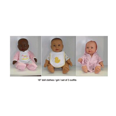 Get Ready Kids Doll Clothes Set Of 3 Girl Outfits