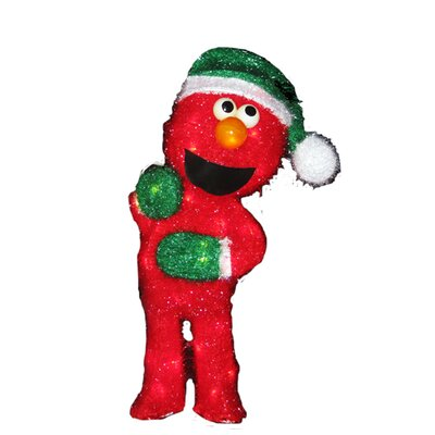 Sesame Street 35 Light Elmo 3D Soft Tinsel Holiday Display