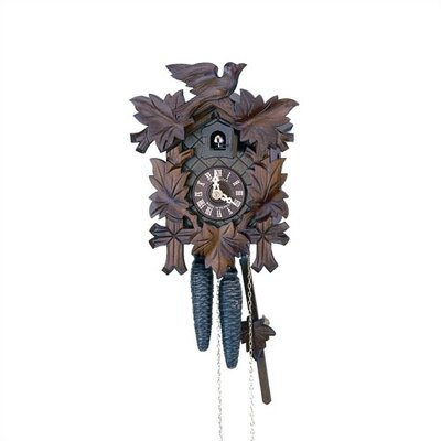 "Schneider 12"" Traditional Cuckoo Clock with Wooden Dial"