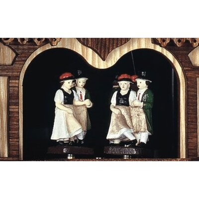 "Schneider 12"" Cuckoo Clock with Clock Peddler and Dancing Figurines"