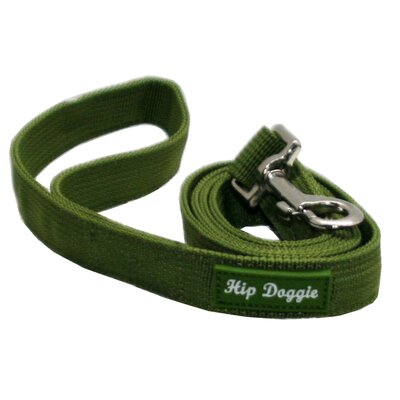 Hip Doggie Mesh Matching Dog Leash in Olive Green