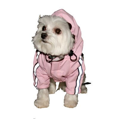 Hip Doggie Puppagonia Dog Rain Parka in Pink