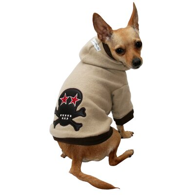 Super Soft Skull Big Dog Hoodie in Tan