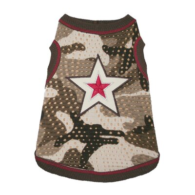 Hip Doggie Super Star Camo Mesh Dog Tank