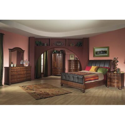Alpine Furniture Lafayette with Braided Veneer Accent Border 12 Drawer Dresser