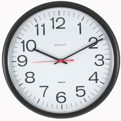 Kincaid Clocks Always Set ™ Tubular Wall Clock in Black