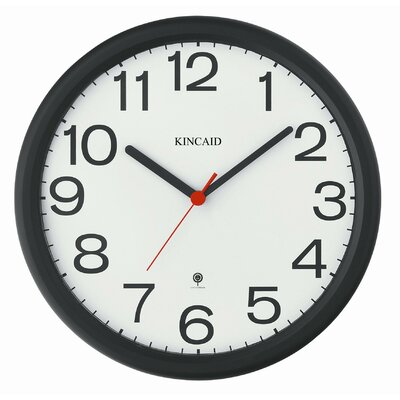 Kincaid Clocks Thin Bezel Radio Controlled Wall Clock with Black Frame