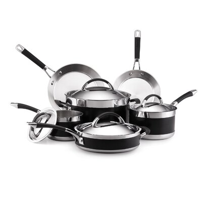 Anolon Ultra Clad 3-Ply Stainless Steel 10-Piece Cookware Set