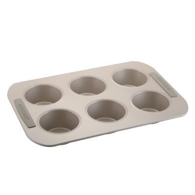 Soft Touch Bakeware Nonstick Carbon Steel 6 Cup Jumbo Muffin Pan