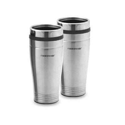 Stainless Steel Travel Mug (Set of 2)