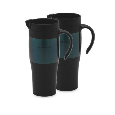 Travel Mug in Blue (Set of 2)