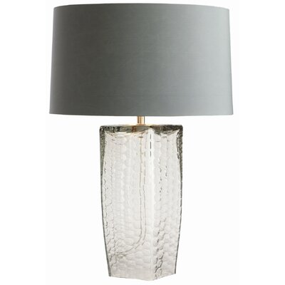 ARTERIORS Home Fillmore Smoke Glass Lamp with Dusty Blue Shade
