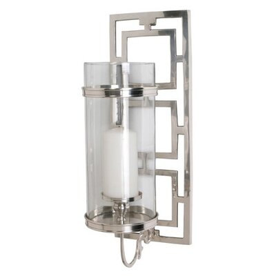ARTERIORS Home Wilson Polished Nickel / Glass Hurricane Sconce