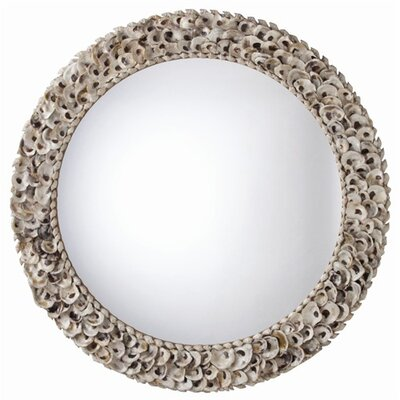 ARTERIORS Home Kipling Authentic Oyster Shell Round Mirror