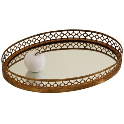 ARTERIORS Home Asher Oval Iron / Mirror Tray