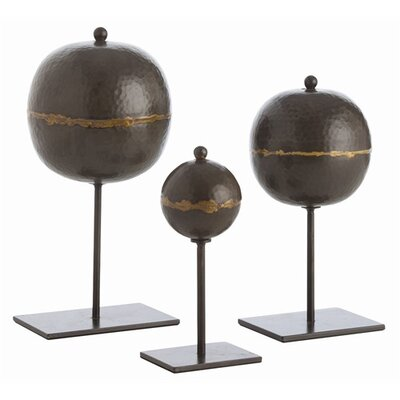 ARTERIORS Home Rocco Hammered Iron Sculpture (Set of 3)