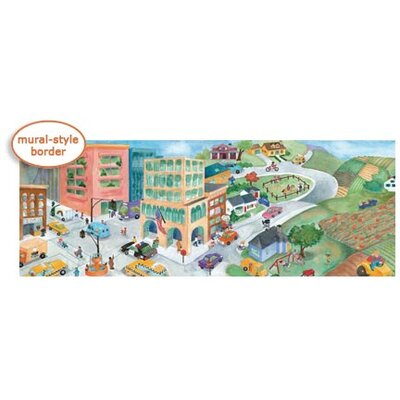 4 Walls Watercolor Journey Mural Style Border in Multi