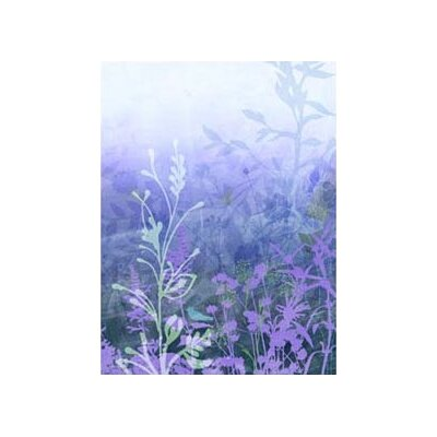 4 Walls Modern Murals Wildflower Mural in Purple