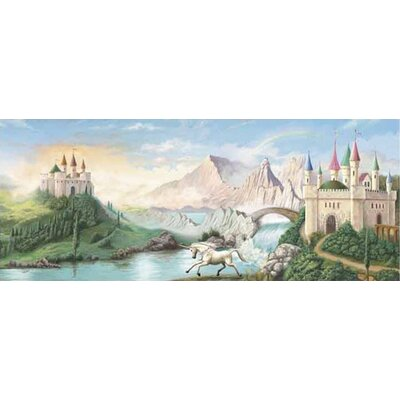 4 Walls Enchanted Kingdom Castle Mural in Multi