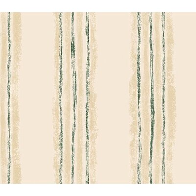 4 Walls Whimsical Children's Vol. 1 Texture Stripe Wallpaper in Hunter