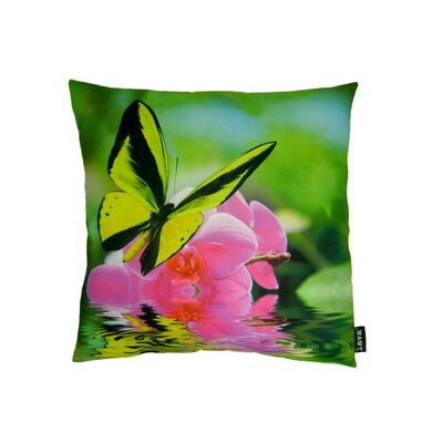 lava Butterfly on Orchid Polyester Pillow