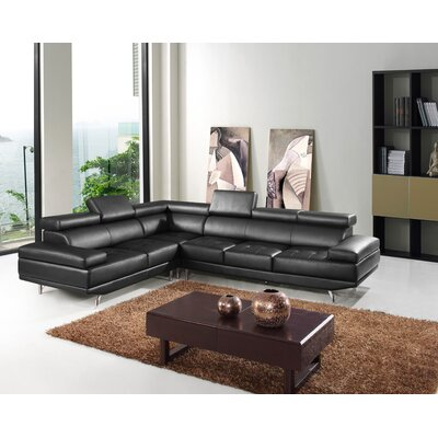 Hokku Designs Leather Sectional