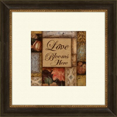 Pro Tour Memorabilia Home and Love B Framed Art