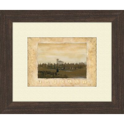 Pro Tour Memorabilia Memories of Tuscany A Framed Art