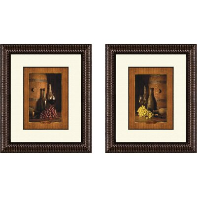 Pro Tour Memorabilia Kitchen Vineyard Tour Framed Art (Set of 2)