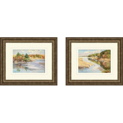 Pro Tour Memorabilia Landscape Annisquam Cover Framed Art (Set of 2)