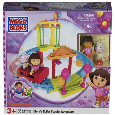 Mega Brands Nickelodeon Dora the Explorer Mega Bloks Roller Coaster Adventure