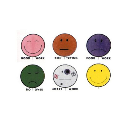 Center Enterprises Inc Grading Stamps Smile Balloons 6/pk