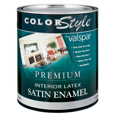 Valspar 1 Quart Pastel Base ColorStyle® Interior Latex Enamel Wall Paint Satin