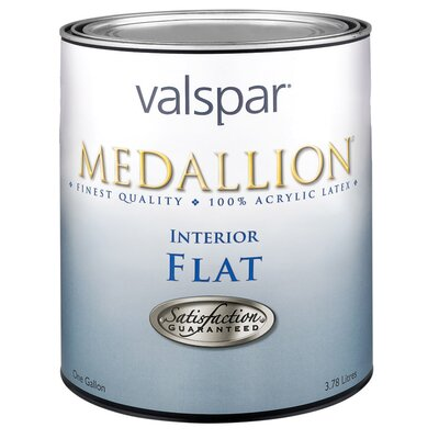 Valspar 1 Quart Tint Base Medallion Interior 100% Acrylic Flat Wall Paint