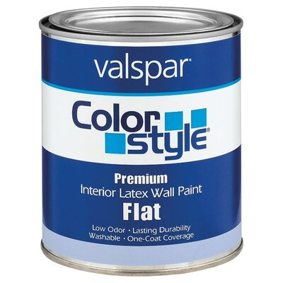 Valspar White ColorStyle® Interior Latex Flat Wall Paint