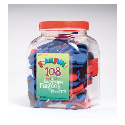 Dowling Magnets Foam Fun Red & Blue Lowercase