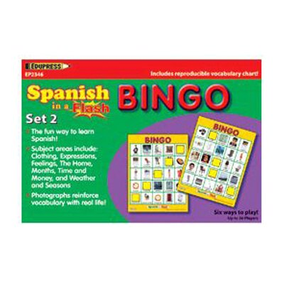 Edupress Spanish In A Flash Bingo Set 2