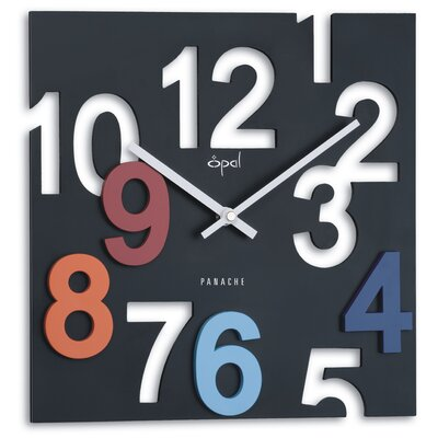 Opal Designer Cut Numbered Dial Clock