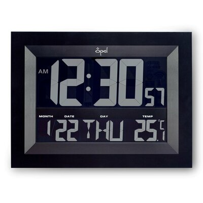 Digital Super Jumbo LCD Wall Clock