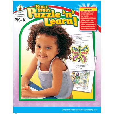 Frank Schaffer Publications/Carson Dellosa Publications Bible Story Puzzle N Learn Gr Pk-k