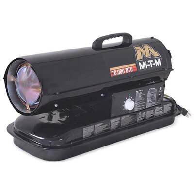 Mi-T-M 70,000 BTU Forced Air Utility Kerosene/Multi Portable Space Heater