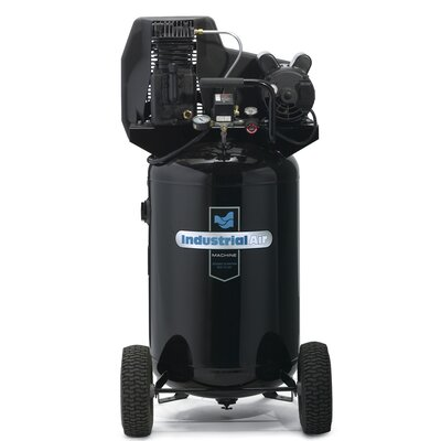 Powermate 30 Gallon Cast Iron Oil Lubricated Belt Drive Industrial Air Compressor