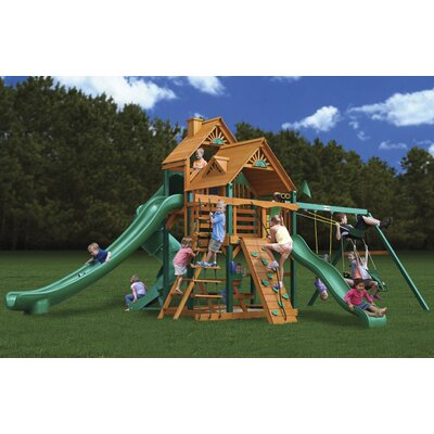 Gorilla Playsets Great Skye II Swing Set with Wood Roof Canopy