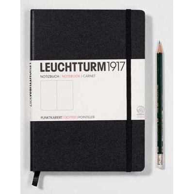 Leuchtturm1917 Classic Medium Hardcover Notebook in Black