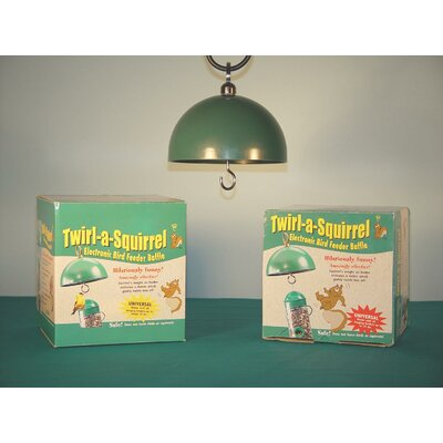 Birdquest LLC/Songbird Twirl-a-Squirrel Baffle Feeder in Green