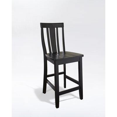 "Crosley Shield Back 24"" Barstool in Black"